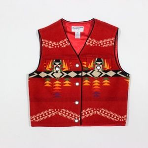 Pendleton Navajo Southwest Vest Jacket Wool USA
